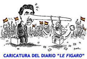 caricatura publicada en el diario frances Le Figaro
